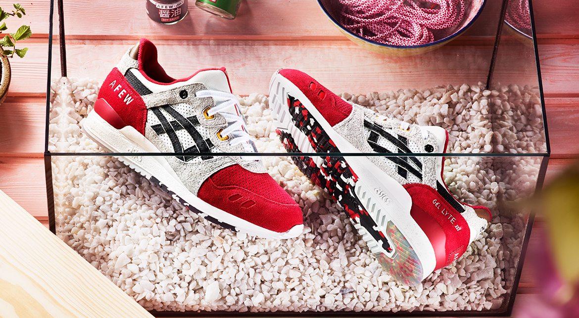the afew x asics gel lyte 3 koi