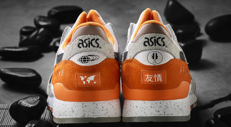 Asics x Afew x Beams Orange Koi US 8,5 Eu 42